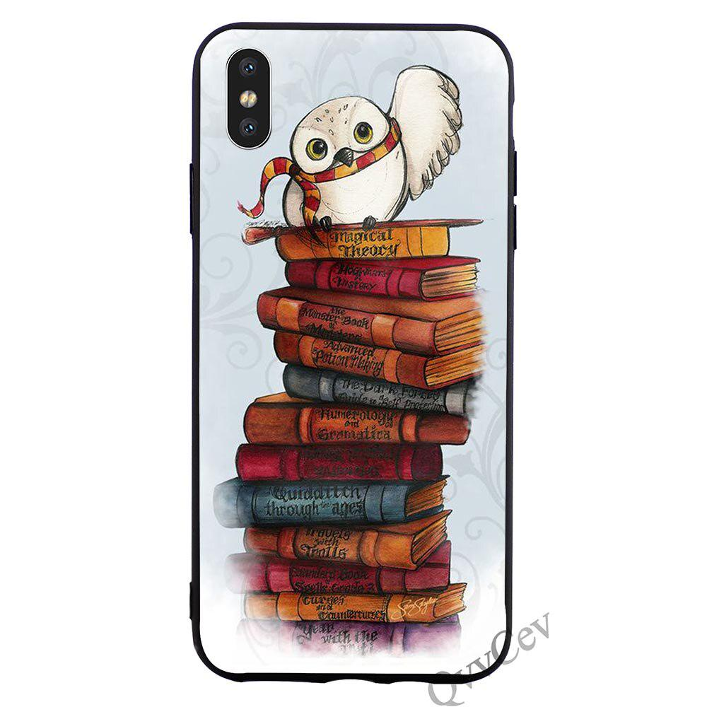 Slim Harry Potter Owl Phone Case for iPhone 7 Plus 8 X Xs XR 11 Pro Max 5 5S SE 6 6S Cover