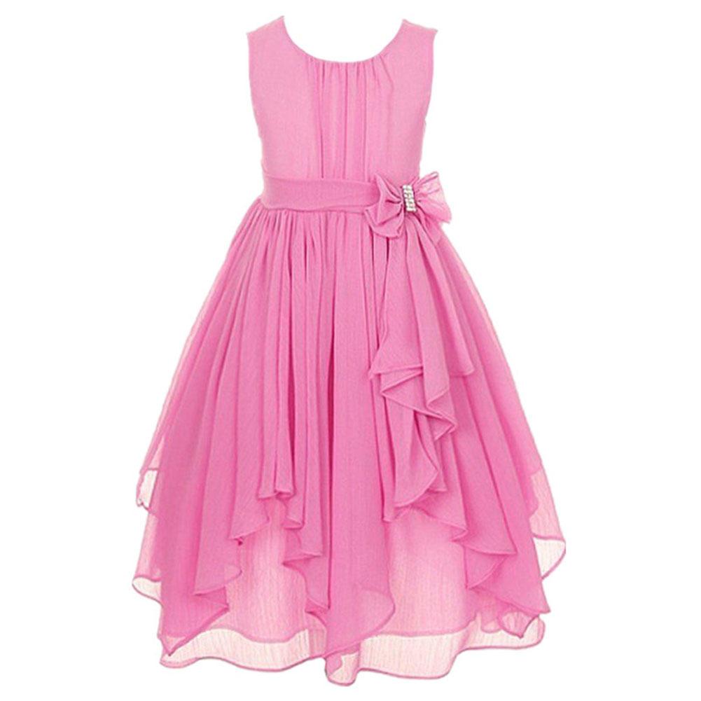 Niños cumpleaños vestido flores niña Princesa gasa desfile Vestido ...