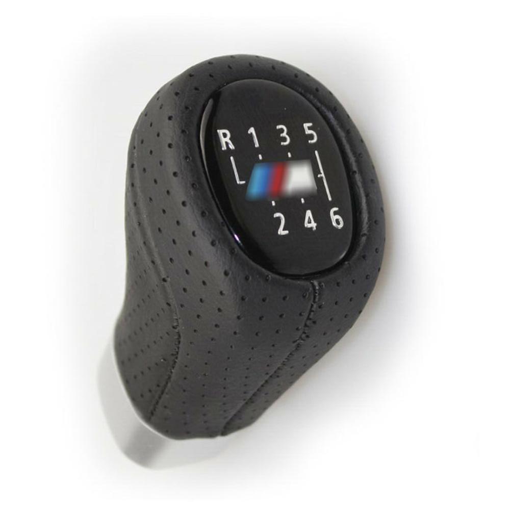 1* 6-Speed Gear Shifter Knob Shift Lever Replacement For BMW 3 5 6 E39 E46 E90