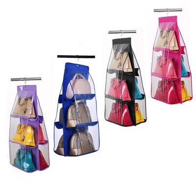 bleu 16 poches chaussettes pliantes garde-robe cale/çons organisateur v/êtements sacs suspendus cintre chaussures sac de rangement sous-v/êtements sac de rangement