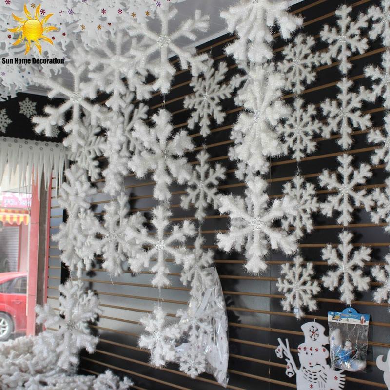 300PCS CHRISTMAS FAKE SNOWFLAKE WEDDING NEW YEAR PARTY TREE WINDOW DECOR NICE