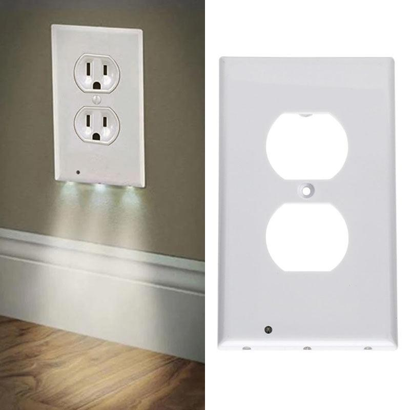 Led Night Lights 1 Pc Plug Cover Led Night Light Light Sensor Angel Wall Outlet Face Hallway Bedroom Bathroom 3 Led Light Sensor Safety Light Discounts Price