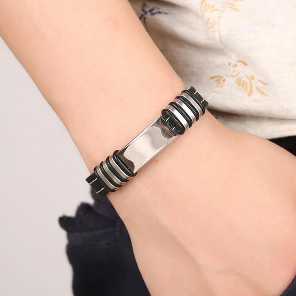1pc Exquisite Fashion Bracelet Bangles Jewelry Women Men Party Gifts Wristband