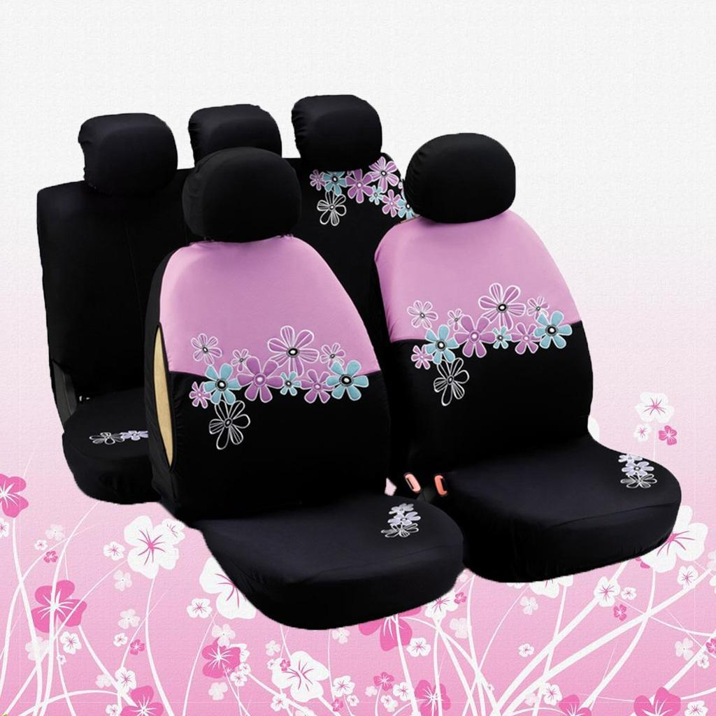 Autoyouth Pink Car Seat Covers For Women Full Set Universal Fit And Airbag Compatible Buy At A Low Prices On Joom E Commerce Platform