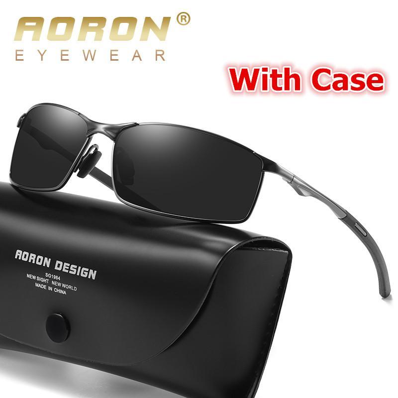 Men Polarized Sunglasses UV400 Outdoor Driving Fishing Metal Pilot Eyewear Glass
