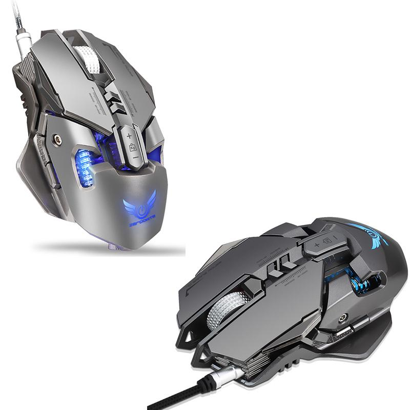 Gaming mouse zerodate x300gy 4000DPI professional wire mouse gaming  computer mouse mice optical mouse gray