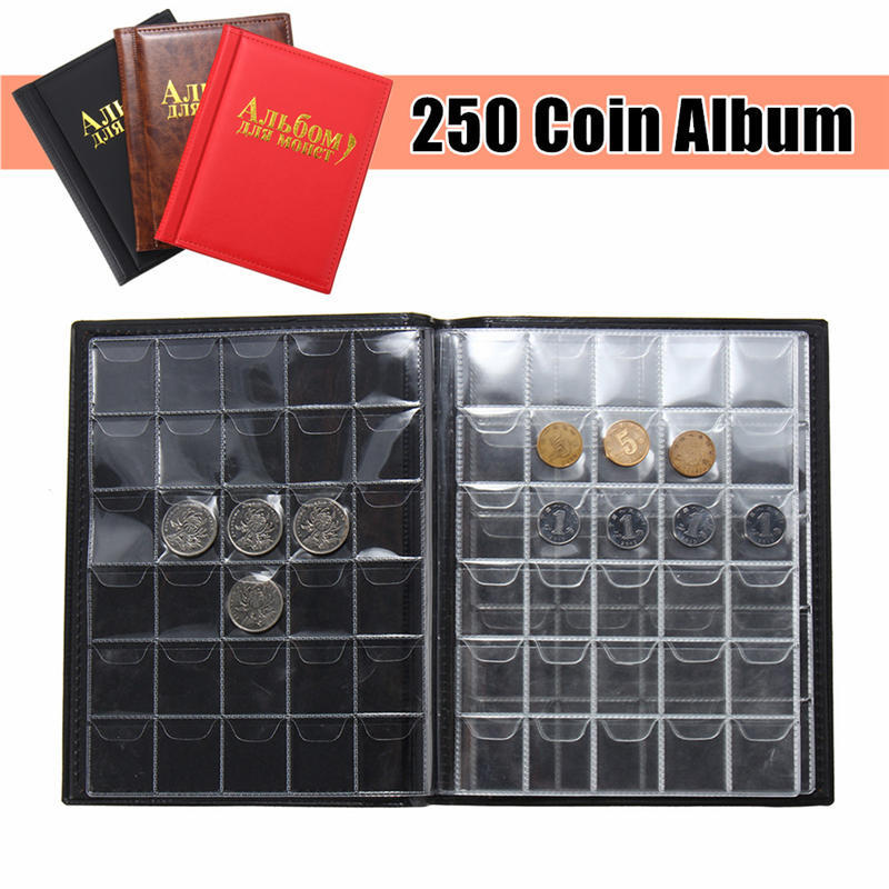 Coin Album Collection Book Holder Collectors Money Penny Cases Pockets 480