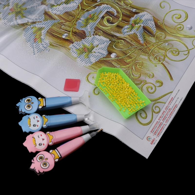 Tool point drill pen with wheel easy diamond painting cross stitch fast finish—A