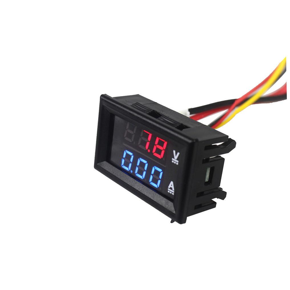 Smart Dc 100v 10a Voltmeter Ammeter Blue Voltage Meters Tools Red Led Amp Dual Digital Volt Meter Gauge Excellent Quality