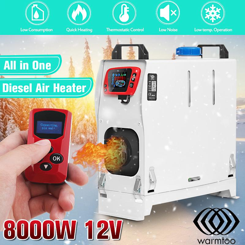 Warmtoo All In One 12V 8000W Metal Diesel Air Heater Car Parking Heater for RV