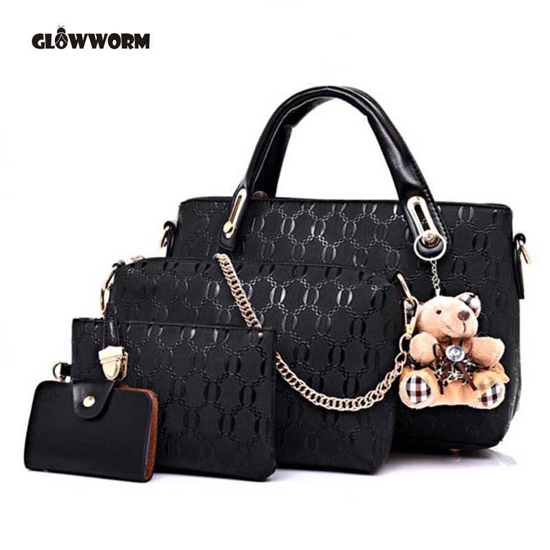 fc52ec1bd475 Известный бренд женщин сумка моды Messenger сумки Пу кожа Женские ...
