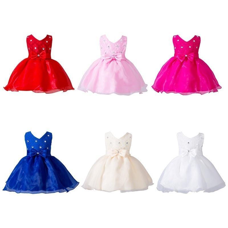 0-24 Geburtstagsparty M Baby Mädchen Neugeborenes Taufe Tutu Kleid ...