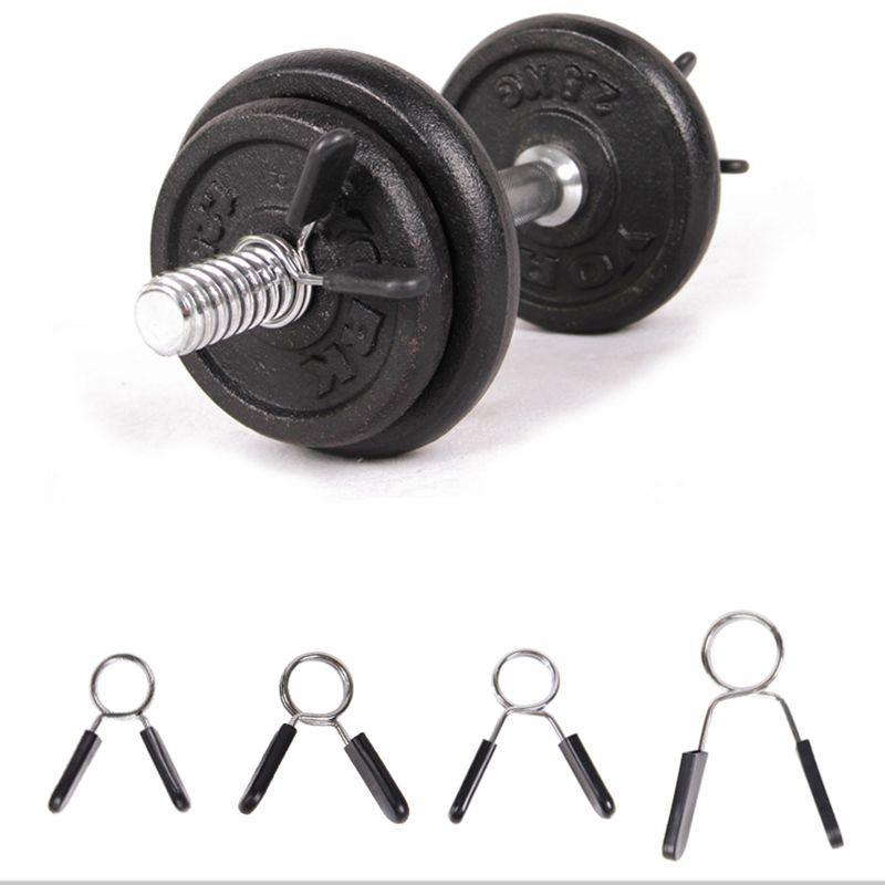 Olympic Barbell Clamp Dumbbell Weightlifting Spin Lock Weights Bars Collar