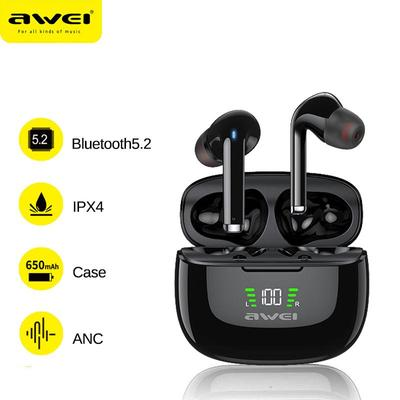 TA8 ANC Bluetooth-compatible 5.2 Sport Headset Noise Cancelling Type-C Earbud Gamer TWS Wireless HiFi Earphone With Mic