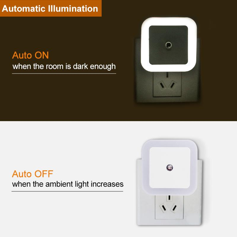 Led Night Light Mini Light Sensor Control 110v 220v Eu Us Plug Nightlight Lamp For Children Kids Living Room Bedroom Lighting Buy At A Low Prices On Joom E Commerce Platform