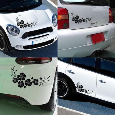 Fashion Flower Blossom Car Decal Sticker Auto Truck Bumper Door Window Decor