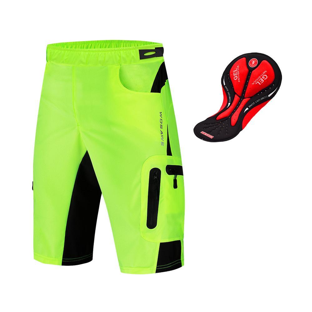 Men/'s Cycling Shorts Outdoors MTB Downhill Off Road Shorts Loose Gel Pad Pants