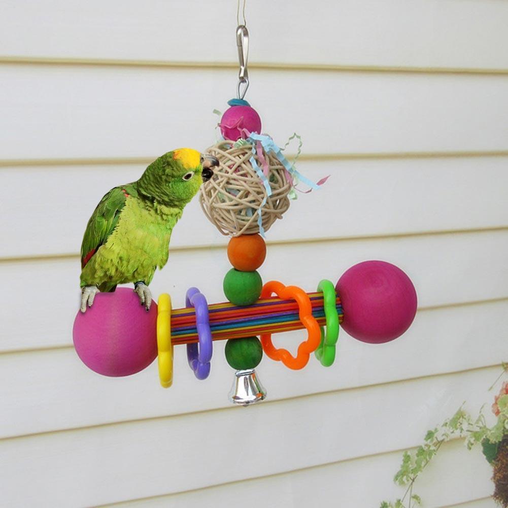 Rondaful Vogel Cane Drähte geflochtenen Ball kauen und beißen ...