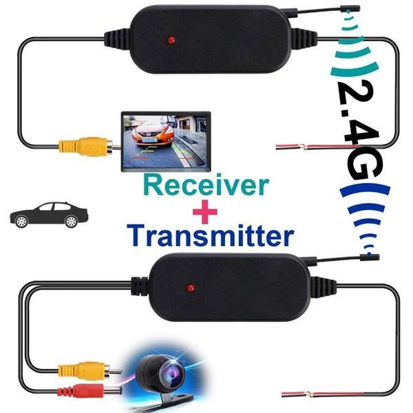 2.4G Wireless Video Transmitter Kit Car Reverse Rear View Backup Parking Camera