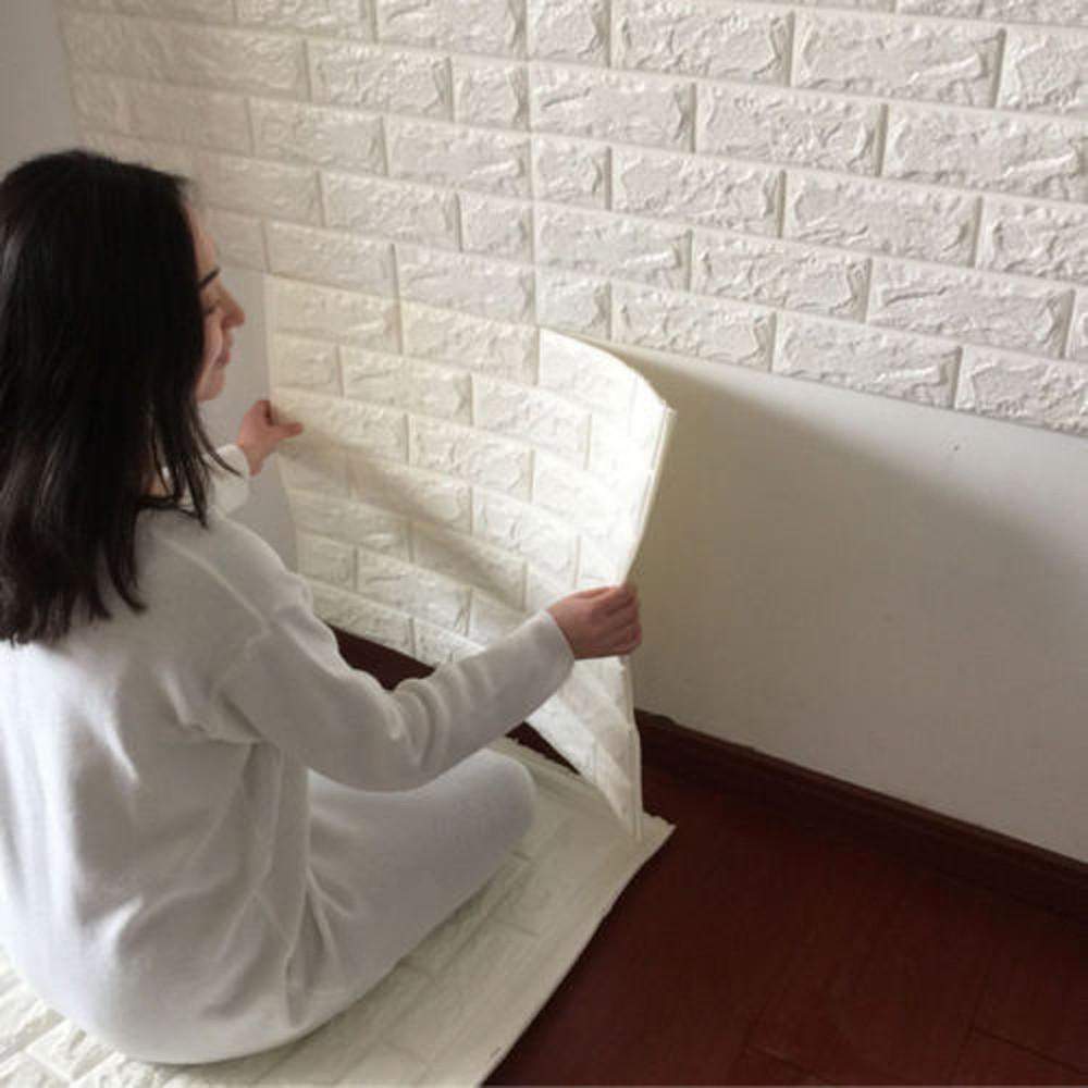 Heimwerker Pe Schaum 3d Wallpaper Diy Wandaufkleber Dekor Geprägte Ziegel Stein Die Neueste Mode