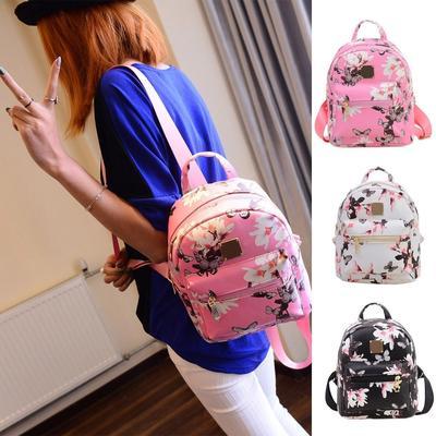 2bf1ee34402f -44%. 4.6Price  9 Price  16. USA Ladies Floral Backpack Travel Leather  Handbag Rucksack Shoulder ...