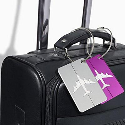 7x Travel Luggage Tag Boarding Aircraft Plane Shape Suitcase Tag Alloy