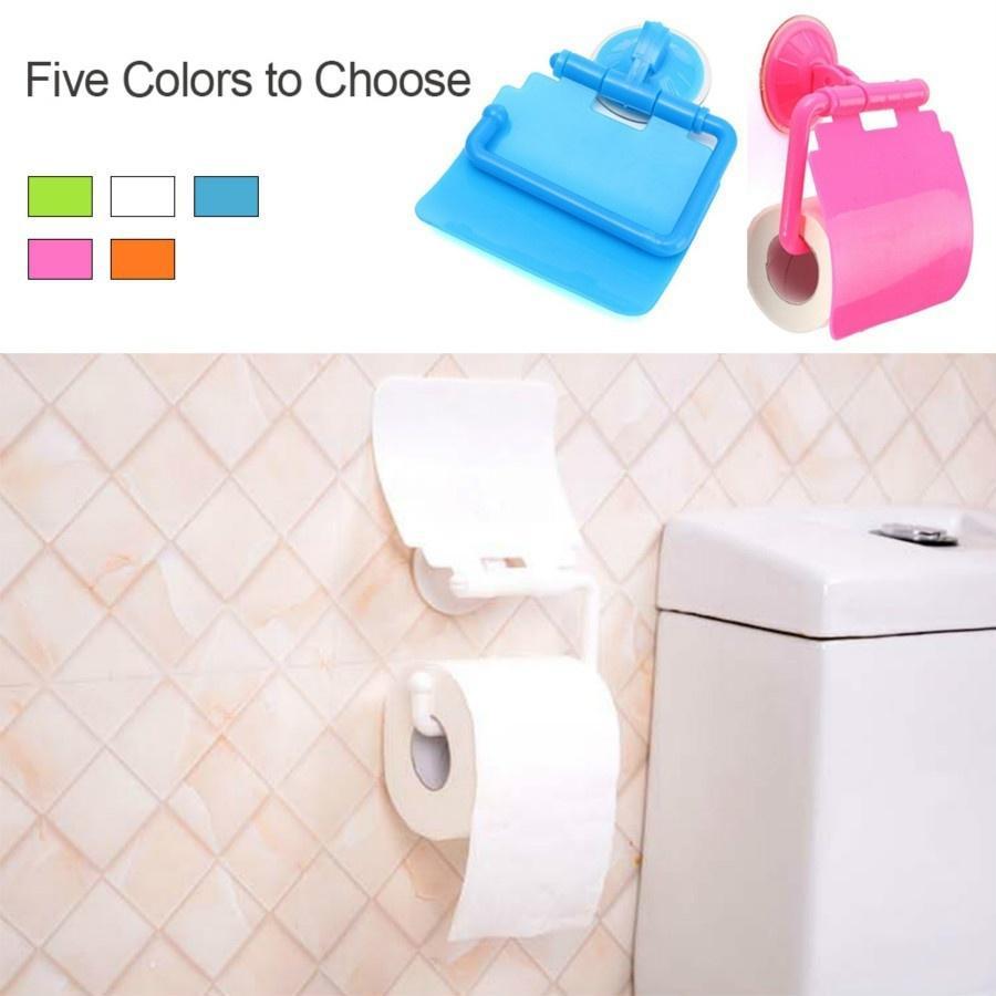 厕所浴室壁装卷纸架时尚纸巾盒收纳盒附件