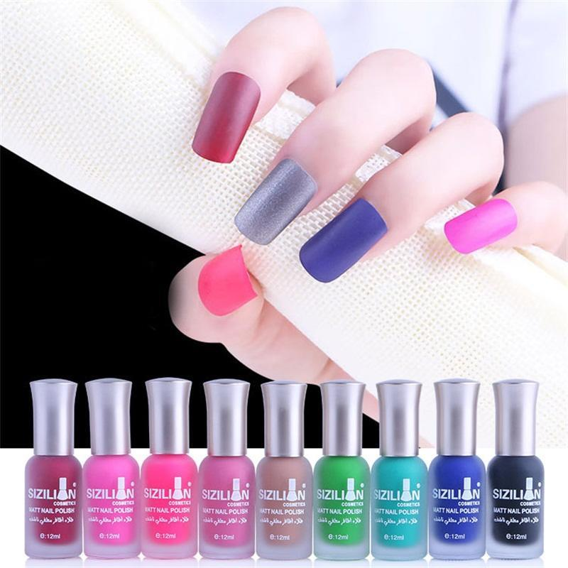 Frosted Nail Art Varnish Nude Color Quick Dry Matte Nails Polish ...