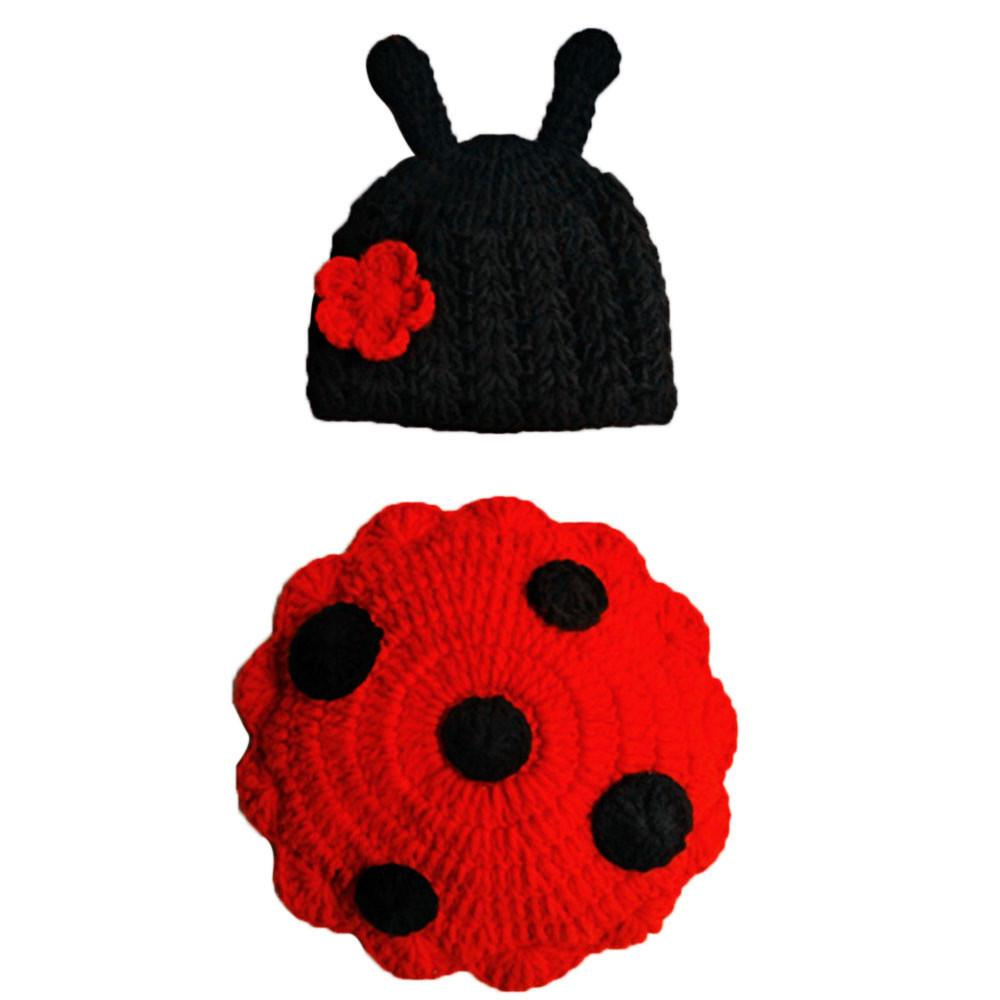 Newborn Baby Outfit Infant Crochet Knitted Cap Costume Photography Prop Tide