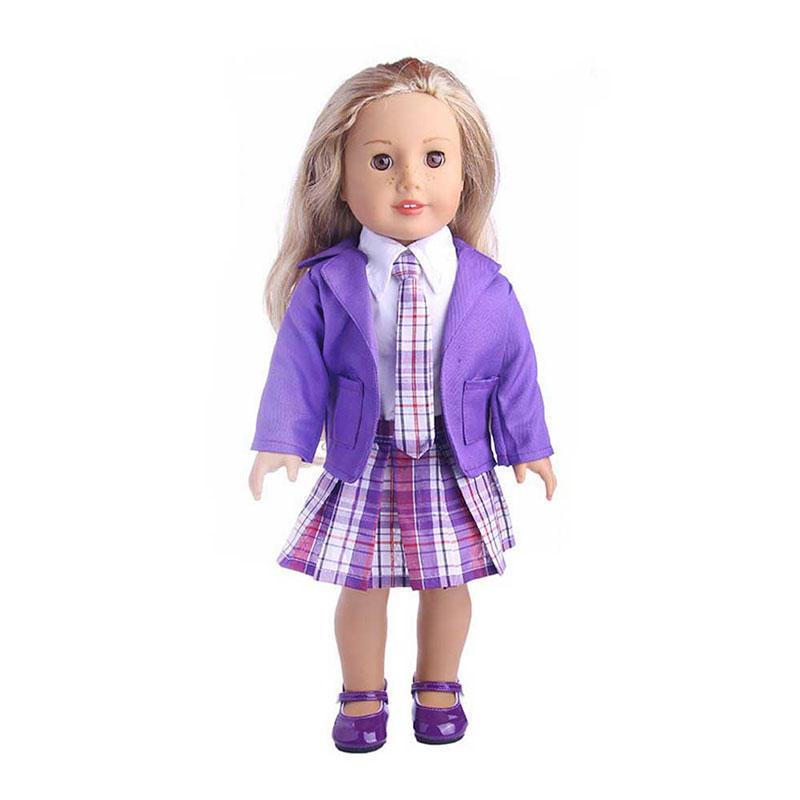 estudiante muñeca ropa encaja americano niña muñecas partido Vestido ...