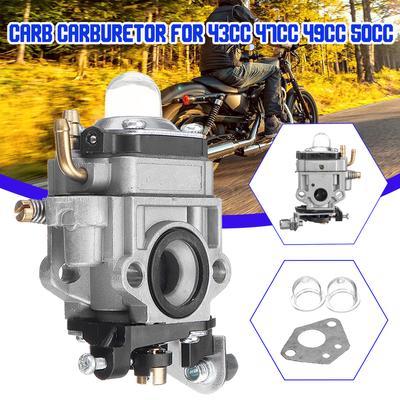 11Mm Carb Carburetor For 43Cc 47Cc 49Cc 50Cc 2-Stroke Scooter ATV Dirt Bike  Quad