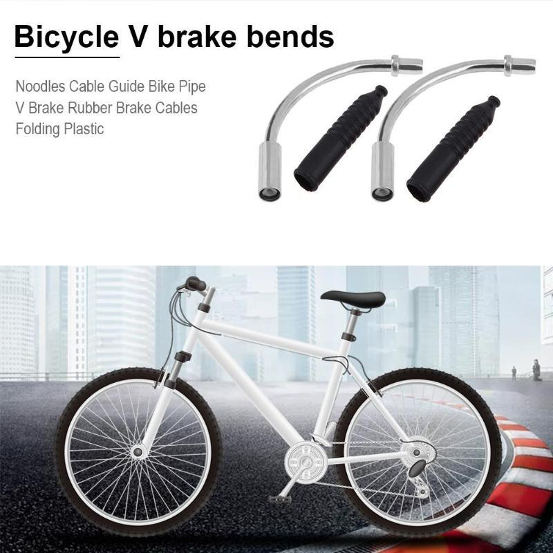 2Pcs Bicycle Brake Noodle Mountain Bike V-Brake Cable Guide /& Adjustable Screw
