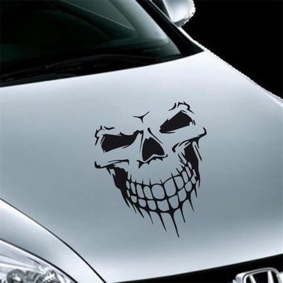 16 Reflective Skull Car Auto Hood Decal Vinyl Sticker SUV Truck Tailgate Window