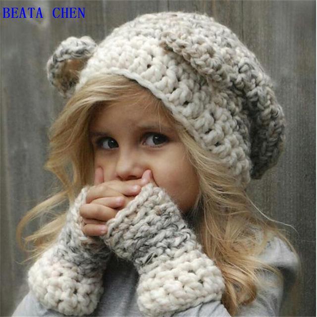 tapa exterior masculino y femenino baby otoño invierno lana gorro ... 190fe47f66e