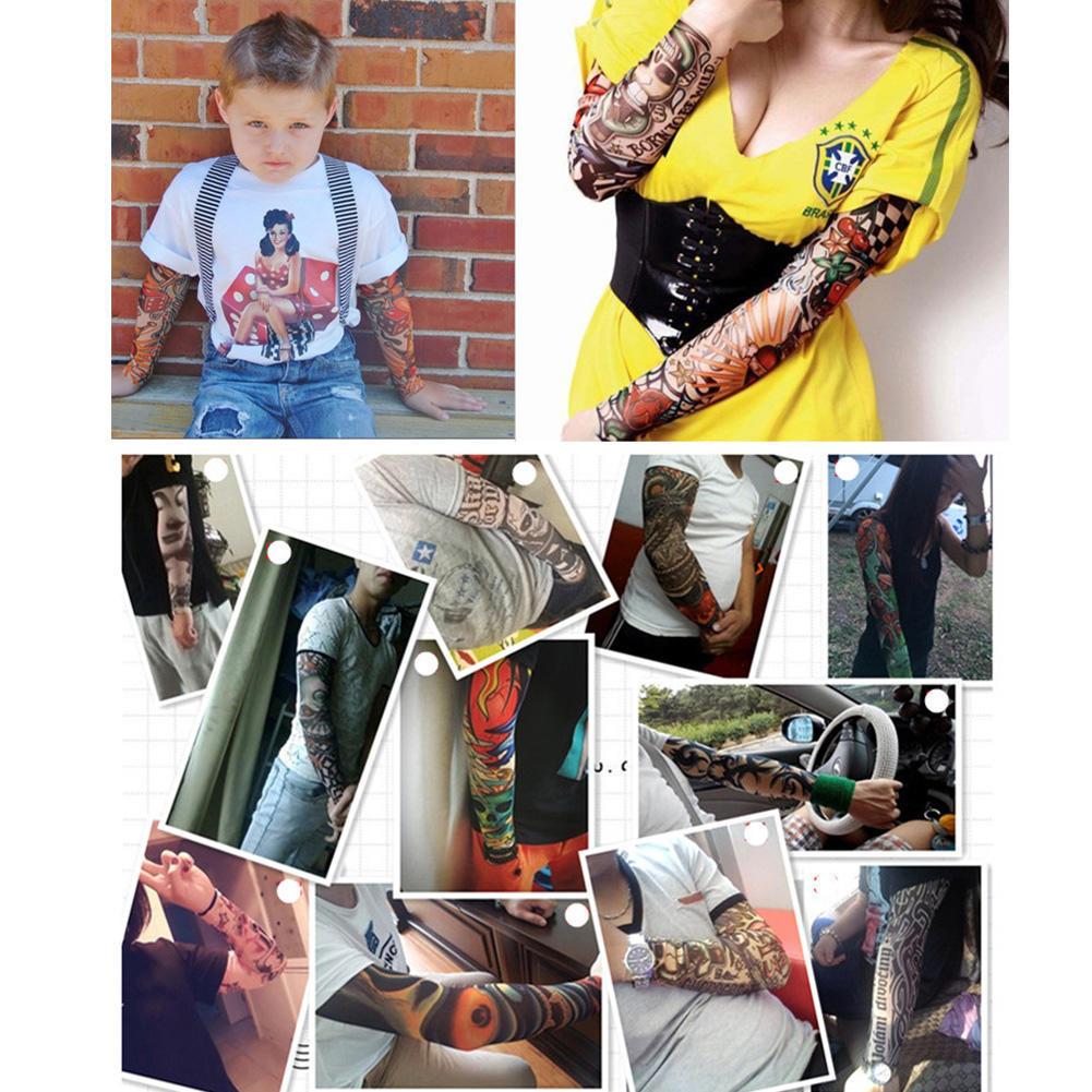 Men's Arm Warmers Creative Anti-sunshine Fashion Men And Women Tattoo Arm Leg Sleeves High Elastic Nylon Halloween Party Dance Party Tattoo Sleeve