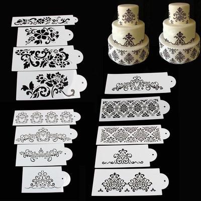 Animals Skin Grain Stencil Fondant Icing Sugar Spraying Template Mould Embosser