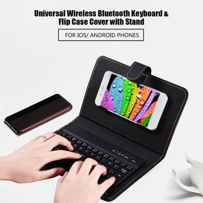Universal Wireless Bluetooth Keyboard Flip Case Cover With Stand For Ios Android Phones Buy At A Low Prices On Joom E Commerce Platform