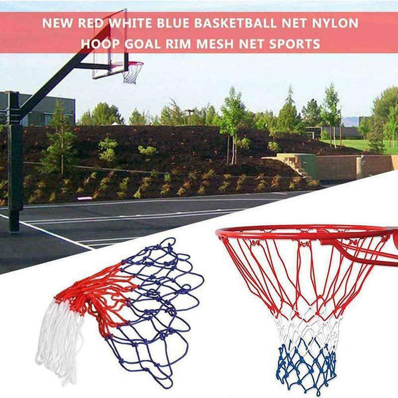 Replacement Basketball Net Nylon All Weather Hoop Goal Outdoor Rim Standard X4N2