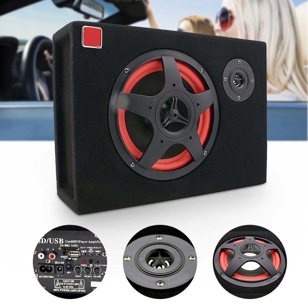Buy 6 Inch 350W Under-Seat Car Active Subwoofer Speaker Bass loudspeaker  Audio Power Amplifier at affordable prices — free shipping, real reviews  with photos — Joom