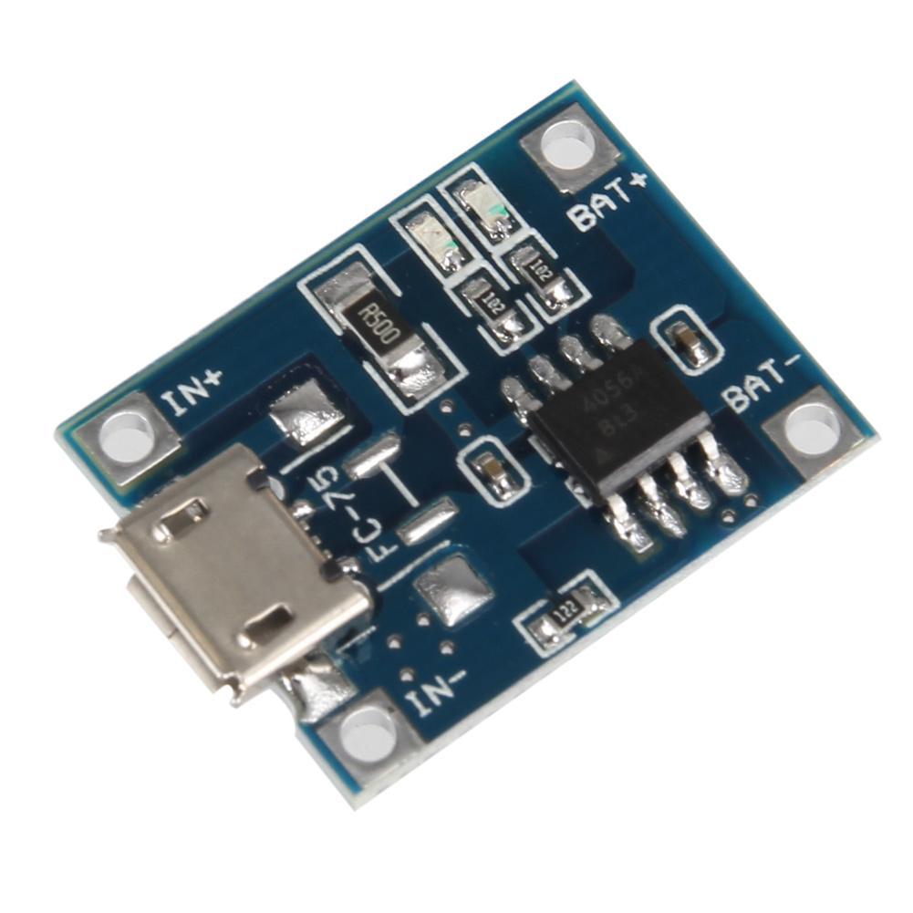 Hot 2PCs 5V 1A 1S 3.7V Li-ion 18650 Lithium Lipo Battery Charging Module Board
