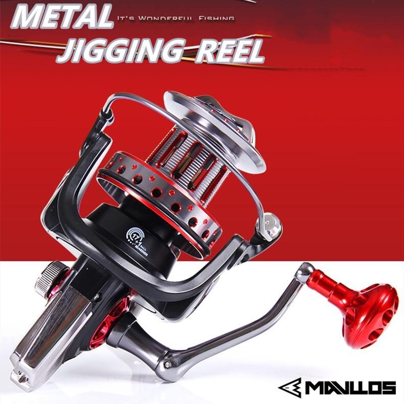 Metal Fishing Reels Casting Spinning Reel Baitfeeder Smooth Sea Reel Fishing