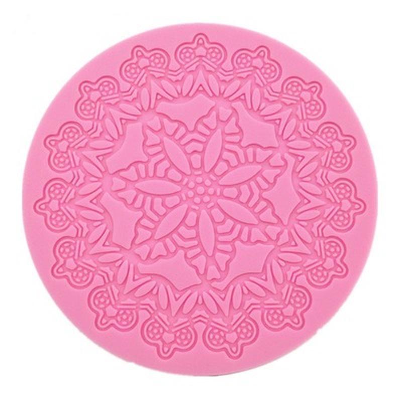 3D Silicone Fondant Cake Lace Sugar Craft  DIY Mat Texture Flower Decor Mold  WF