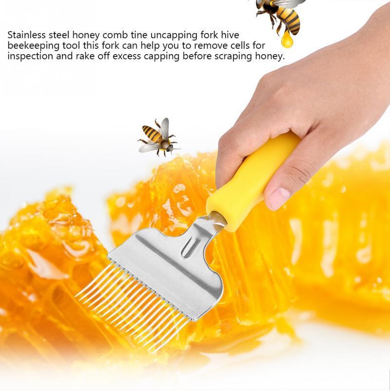 Honey Scraper Beekeeping Fork Bee Hive Extractor Equipment Tool Wax Comb Harvest