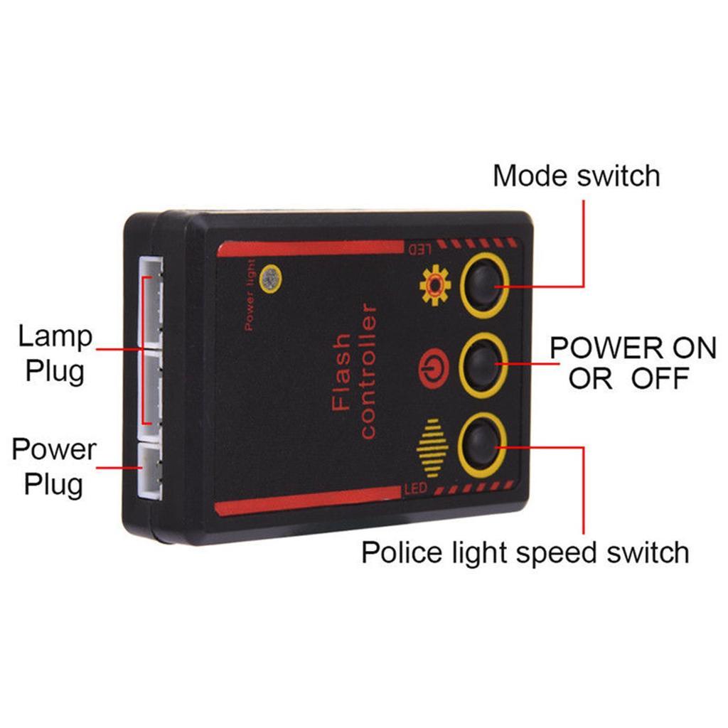 2 Car Motorcycle Truck 6 White LED 3-MODES Strobe Flash Warning Light Emergency