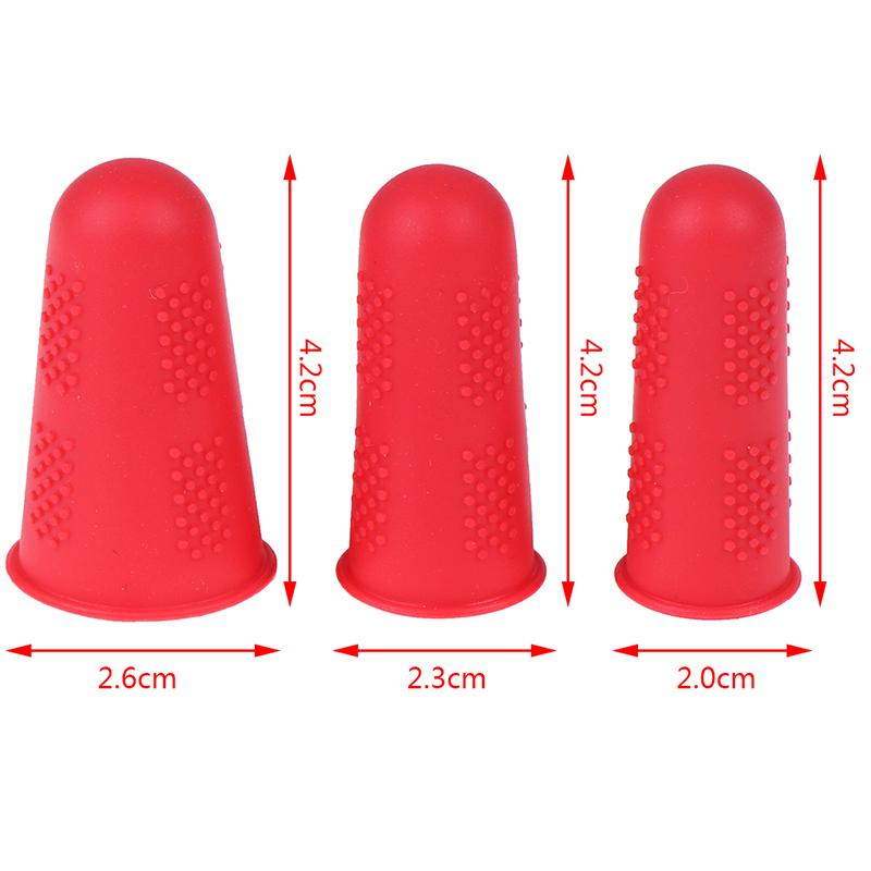 3pcs//set Silicone Finger Protector Sleeve Cover Anti-slip Fingers CoveO*S5