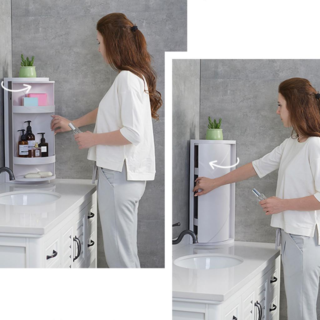 Buy Multifunction Bathroom Kitchen Corner Locker Cosmetic Rotating Storage Cabinet At Affordable Prices Price 44 Usd Free Shipping Real Reviews With Photos Joom