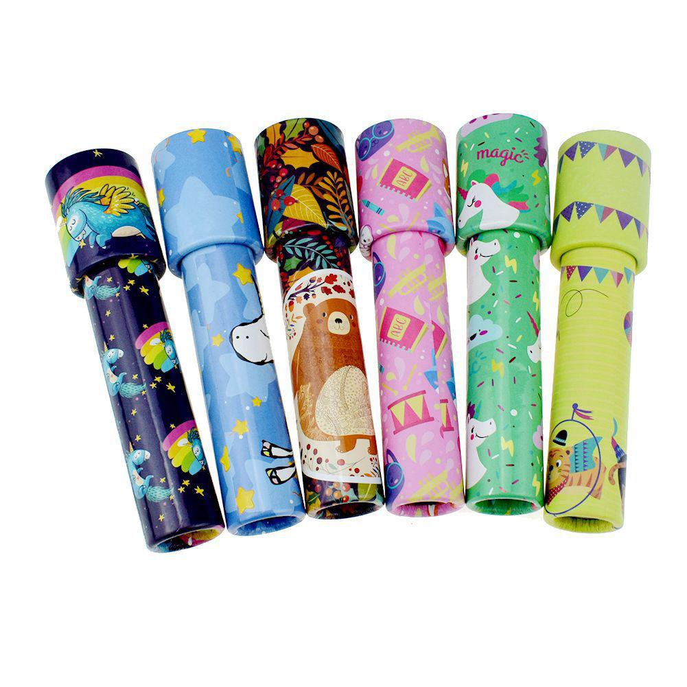 1pc Classic Toy Kaleidoscope Rotating Colorful World Kids Gift Toys Color Random