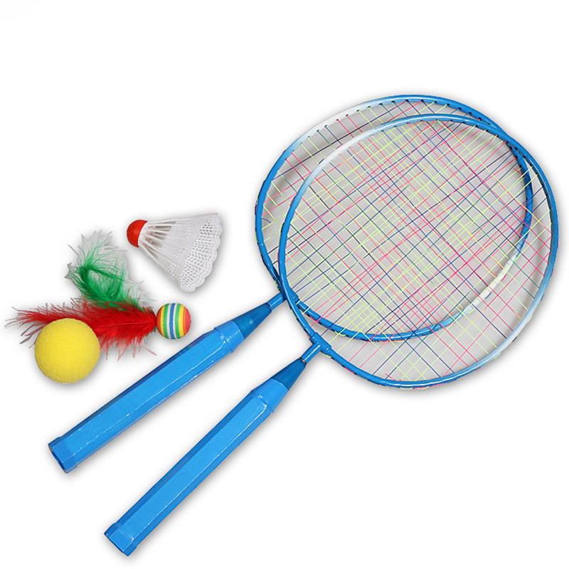 2 Pcs Badminton Racket Shuttlecock Training Outdoor Sports Leisure Toys Adult