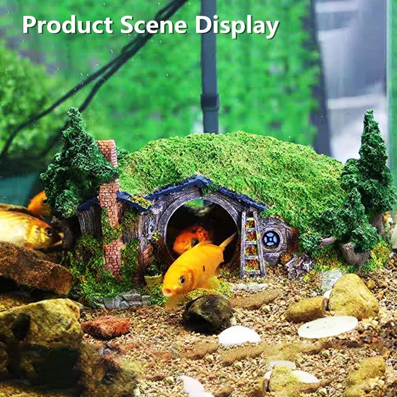 Aquarium Tank Landscaping Resin Fish Hideout Cave Submarin Model Decoration