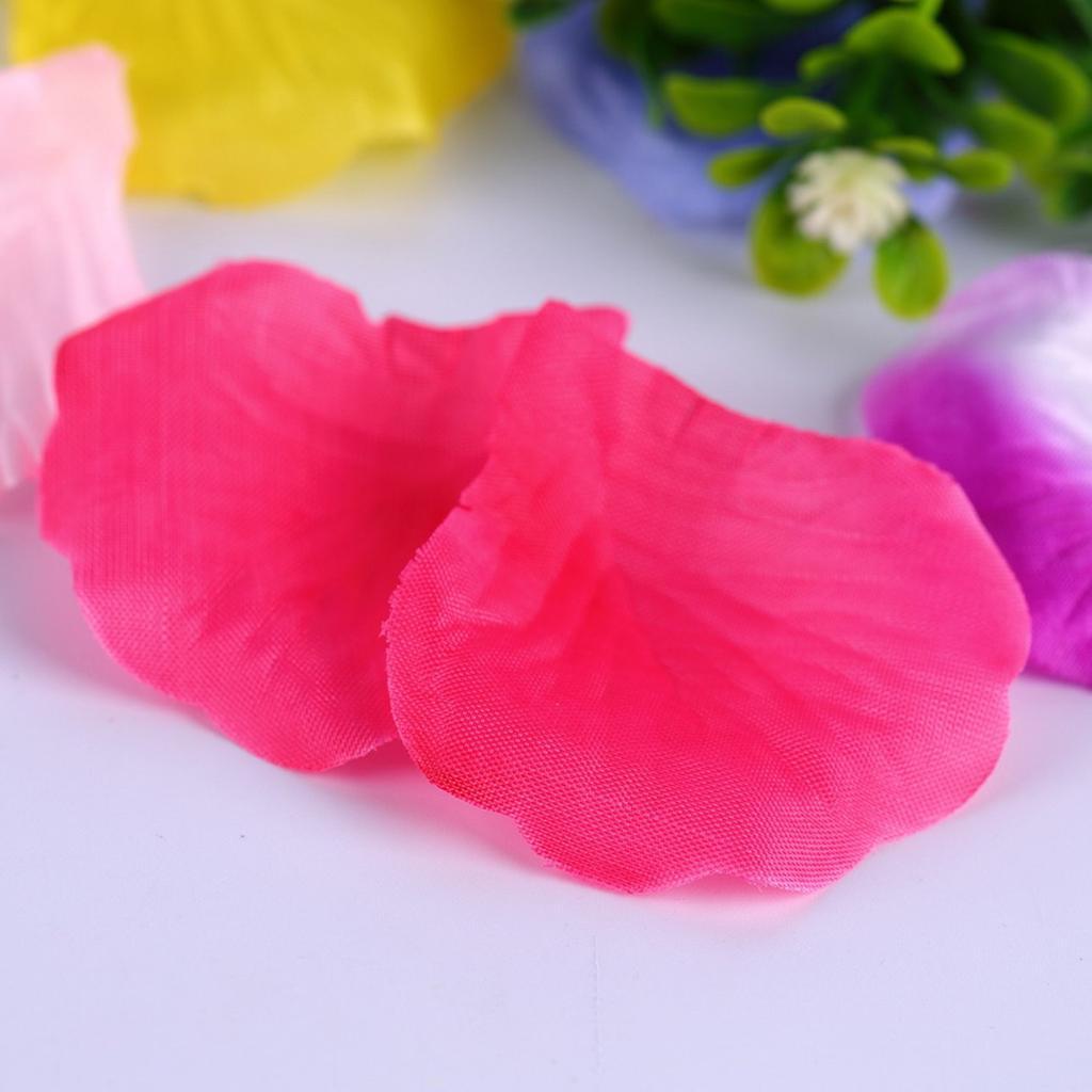 BELLEZA 100pcs Artificial rosa pétalos para boda decoraciones de ...